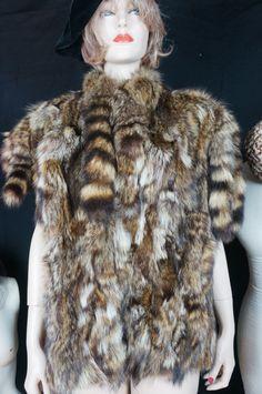 Vintage Fur Coat // Raccoon Fur Jacket // by HippieGypsyBoutique
