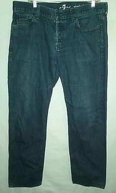 Men's 7 for all mankind Standard Button Down Denim Jeans sz. 36x30