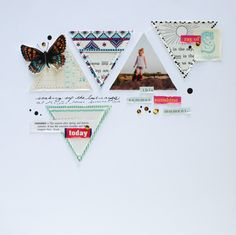 this summer sunshine moment by 3littleks at @studio_calico, triangles, butterfly, butterflies