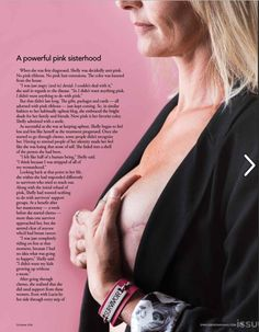 Showing the truth about breast cancer with a cover story in Syracuse Woman Magazine