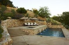 hillside pool and spa