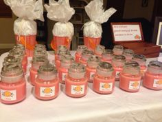 Bridal shower favor diy candles $1 each