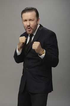"Ricky Gervais | Comedian, actor, atheist, animal rights activist. To quote Ricky, ""I loves him!"""