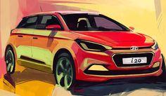 Hyundai i20 Elite illustration by Swaroop Roy