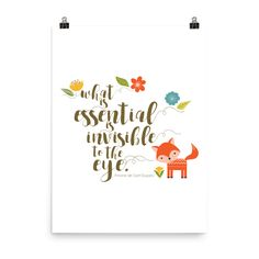 What is essential is invisible to the eye. The Little Prince Literary Instant Printable Art