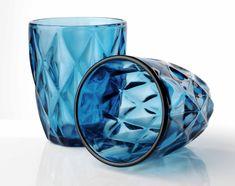 Sada pohárov z modrého skla Wine Glass, Vase, Tableware, Home Decor, Dinnerware, Decoration Home, Room Decor, Tablewares, Vases