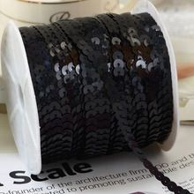 100 yards/lot, black Color Flat Loose Sequins Ribbon Paillette Sewing For Crafts(China (Mainland)) Scrapbooking, Decoration, Sewing Crafts, Gym Bag, Arts And Crafts, Sequins, Fabric, Bags, Color
