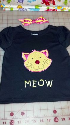 Appliqued and embroidered shirt for granddaughter.