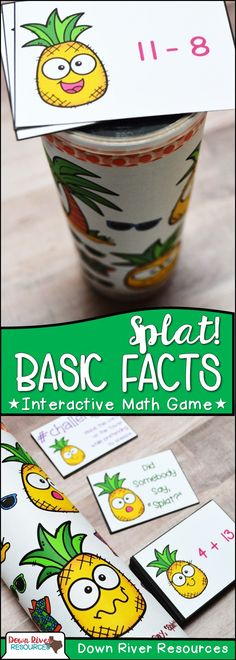 Addition and Subtraction Basic Facts | First Grade Math Centers | Second Grade Math Centers | End of the Year Math Fun