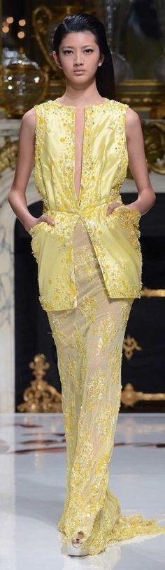 Charlotte Licha Couture S/S 2014 yellow