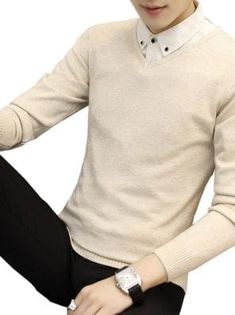 You searched for akolzol.com Man Sweater, Cashmere Wool, Wool Sweaters, Sleeve Styles, Fall Winter, V Neck, Slim, Pullover, Casual