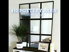 Pottery Barn Eagan Inspired Dollar Store Mirror - YouTube