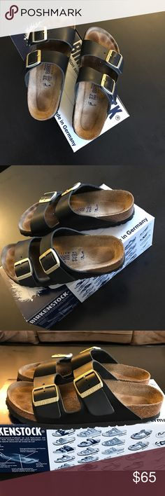 Birkenstock Arizona 2-Strap Cork Footbed Sandals The sandals are size 37 (US 7) in Black and only worn a handful of times. Sandals are in really good condition with some footprint marks on the bed of the sandals, which are natural after a couple of wears. Birkenstock Shoes Sandals