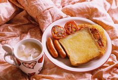 Toast + Omelette + Hotdogs + Bed