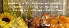 1Timothy 4:4-5