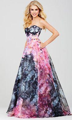 Multi Color Print Prom Dress 33499
