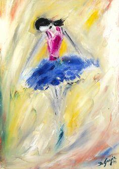 DeGrazia® - Blue Ballerina - Gallery Print  26 1/2 x 19. Limited Edition - $99.95