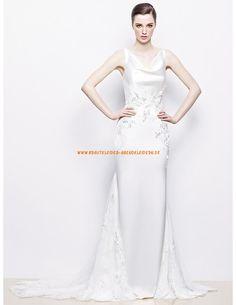 Sexy Elegante Brautkleider 2013 aus Satin mit Stickerei