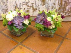 succulent orchid centerpiece