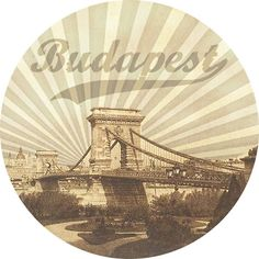 Budapest, Hungary, vintage circle, Chain Bridge