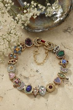 Slide Bracelet - Celebrate Faith - -Canterbury Slide Bracelet - Celebrate Faith - - Vintage Solid Gold Gemstone Slide Charm Bracelet 11 Slides Vintage Slide Bracelet Victorian Bracelet Wedding Bracelet Vintage Slide Bracelet Charm B. Mens Gold Jewelry, Bridal Jewelry, Silver Jewelry, Jewelry Necklaces, Fine Jewelry, Silver Ring, Jewellery, Pearl Jewelry, Pendant Jewelry