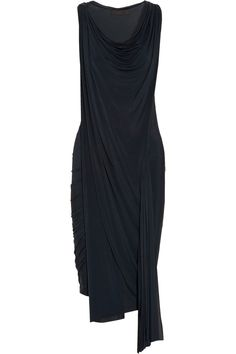 Draped stretch satin-jersey dress: Alexander Wang