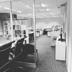 #hometime #office #creative #studio #design #mac #pc #tables #chairs #empty #hard #work #winning