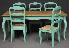 New painted table and chairs