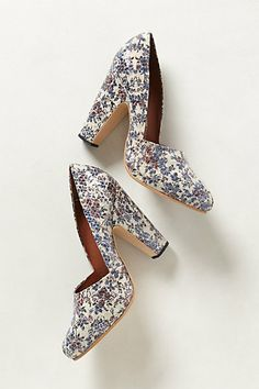 floral heels from @Anthropologie #shoes #heels #anthropologie