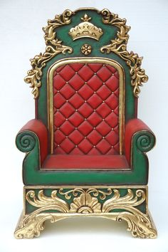 Portable Santa Claus Throne And Couch And Chair For Elves