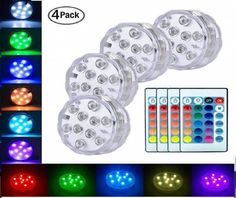 8. LoveNite Submersible LED Lights Small Led Lights, Small Lamps, Led Tea Lights, String Lights, Pond Lights, Fountain Lights, Fairy Lights, Aquariums, Jacuzzi