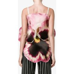 Christopher Kane Pansy sleeveless blouse ($790) ❤ liked on Polyvore featuring tops, blouses, layered sleeveless top, spaghetti strap blouse, layered tops, sleeveless tops and spaghetti strap top