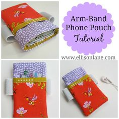 arm-band phone pouch tutorial free pattern from ellison lane for dritz