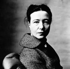 Simone de Beauvoir, photographed by Irving Penn