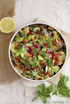 quinoa almond and mint salad