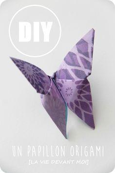 DIY papillon en tissu origami - Les tutoriels de louise-4 | Couture ...