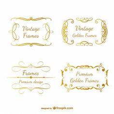 Pack de marcos dorados ornamentales
