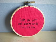 Supernatural Quote Cross Stitch Sam Winchester by EternallyMessy, $7.00