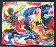 Artwork >> Eva Kudukhashvili >> adam and eva.oil on canvas,1994.