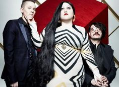 "Gossip: drummer Hannah Blilie, singer Beth Ditto, & guitarist Nathan ""Brace Paine"" Howdeshell."