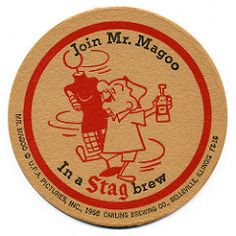Stag Beer, Mr Magoo, Beer 101, Beer Mats, Beer Girl, Beer Coasters, St Louis Mo, Brewing Co, Artwork Design