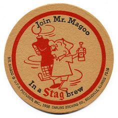 Stag Beer, Mr Magoo, Sous Bock, Beer 101, Beer Mats, Beer Coasters, Brewing Co, Artwork Design, Illinois