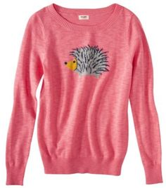Find Your Spirit Animal (Sweater) For Fall - - Happy Birthday, Teen Fashionista! Gift for Her: Mossimo Supply Co. Juniors Hedgehog Animal Sweater @ Target Source by Teen Fashionista, Animal Sweater, Cute Sweaters, Fall Sweaters, Pink Sweater, Owl Sweater, Jumper, Fall Wardrobe, Sweater Weather