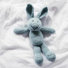 Cotton bunny  LiLi LOVE hand knitted plush by forestbluefactory, $78.00