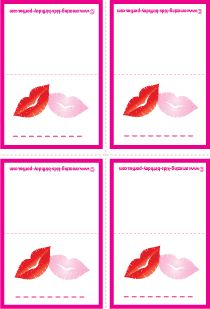 FREE Kisses Name Cards