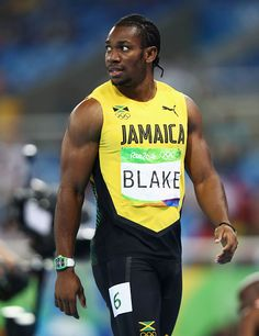 Yohan Blake of Jamaica looks on after he competes in the Men's Semifinals… Yohan Blake, Rio 2016 Pictures, 200m, Jamaica, The Man, Olympics, Track, Mens Tops, Image