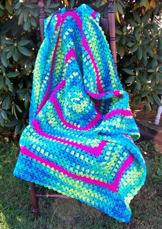 A Cheerful Afghan I crocheted to donate to Project Linus...will surely put a smile on a young ones face