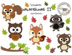 KLEINE WALDFREUNDE II *10x10* von SCHNOOKYWOO auf DaWanda.com