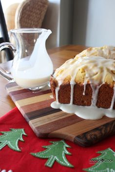 Eggnog Bread with Rum Glaze.  From Knead to Cook.  I made these today and they are fantastic, as promised!