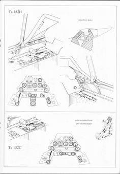 Asisbiz Artwork Focke Wulf Ta cockpit blue print line drawing scale 01 Ww2 Aircraft, Fighter Aircraft, Ta 152, Draw Diagram, Focke Wulf 190, Pilot License, Detailed Drawings, Technical Drawing, Aviation Art